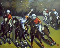 The Sport of Kings by Jann Harrison Accent & Decor Tile JHA014AT