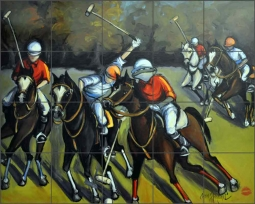 The Sport of Kings by Jann Harrison Ceramic Tile Mural JHA014