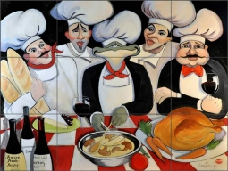 Turkey Time by Jann Harrison Ceramic Tile Mural JHA015