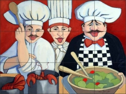 Pot Luck by Jann Harrison Ceramic Tile Mural - JHA017