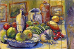 Fruit Still Life by Joanne Morris Margosian Ceramic Tile Mural - JM002