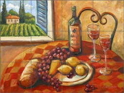 Morris Tuscan Fruit Wine Ceramic Tile Mural - JM019