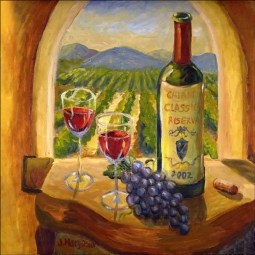 Chianti View by Joanne Morris Margosian Ceramic Accent & Decor Tile - JM021AT