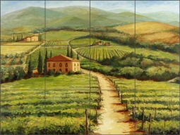 Wine Country by Joanne Morris Margosian Ceramic Tile Mural JM025