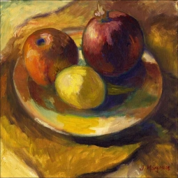 Fruit Plate by Joanne Morris Margosian Ceramic Accent & Decor Tile - JM031AT