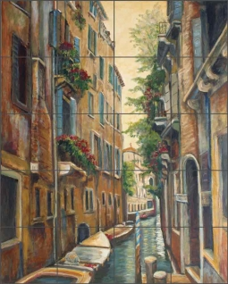 Venetian Afternoon 2 by Joanne Morris Margosian Ceramic Tile Mural - JM040