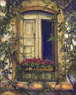 Chianti Door by Joanne Morris Margosian Ceramic Tile Mural - JM041