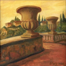 Italy Urns by Joanne Morris Margosian Ceramic Accent & Decor Tile - JM044AT