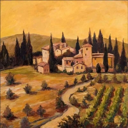 Vineyard I by Joanne Morris Margosian Ceramic Accent & Decor Tile - JM049AT