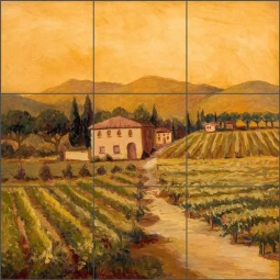 Vineyard II by Joanne Morris Margosian Ceramic Tile Mural - JM050