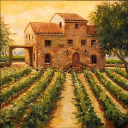 Cardella Winery by Joanne Morris Margosian Ceramic Accent & Decor Tile - JM054AT