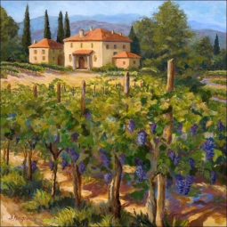 Morris Tuscan Vineyard Ceramic Accent & Decor Tile JM072AT