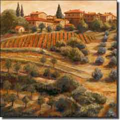 "Morris Tuscan Vineyard Ceramic Accent Tile 4.25"" x 4.25"" - JM079AT2"