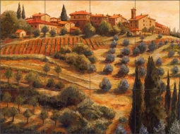 Chianti Sunset by Joanne Morris Margosian Ceramic Tile Mural - JM079