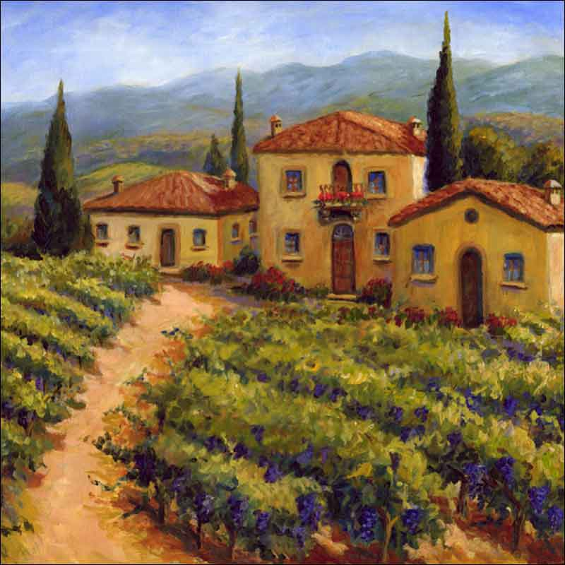 Morris Tuscan Vineyard Ceramic Accent & Decor Tile JM080AT