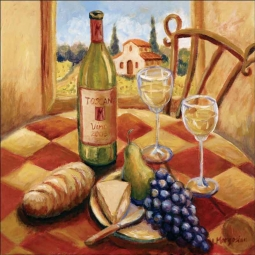 Tuscan Luncheon I by Joanne Morris Margosian Ceramic Accent & Decor Tile - JM105AT
