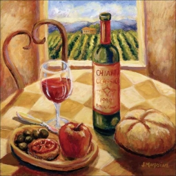 Tuscan Luncheon II by Joanne Morris Margosian Ceramic Accent & Decor Tile - JM106AT