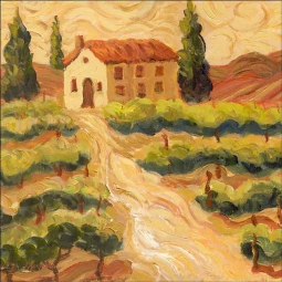 van Gogh Vineyard by Joanne Morris Margosian Ceramic Accent & Decor Tile JM127AT