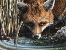 Watering Hole by Justin Sparks Ceramic Tile Mural - JSA005