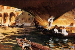 The Rialto by John Singer Sargent Ceramic Tile Mural - JSS002