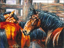King of His Domain by Jan Taylor Ceramic Tile Mural - JTA005