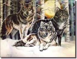 "Taylor Wolves Wolf Ceramic Accent Tile 8"" x 6"" - JTA015AT"