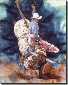 "Taylor Western Cowboy Ceramic Accent Tile 8"" x 10"" - JTA021AT"