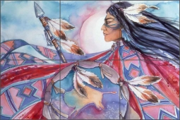Warrior Spirit by Jan Taylor Ceramic Tile Mural - JTA040