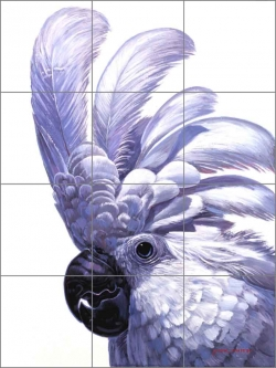 Cockatoo by Jack White Ceramic Tile Mural - JWA002