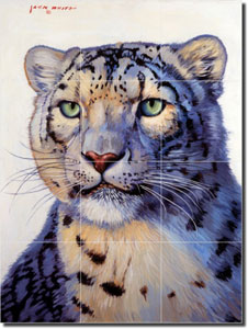 Snow Leopard by Jack White - Animal Ceramic Mural 17