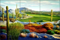 The Boulders - North Scottsdale by Jack White Ceramic Tile Mural JWA036