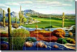 "White Boulders Scottsdale Golf Ceramic Tile Mural 25.5"" x 17"" - JWA036"