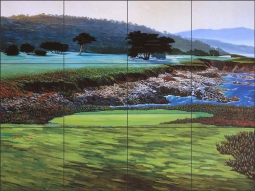 Pebble Beach by Jack White Ceramic Tile Mural JWA038