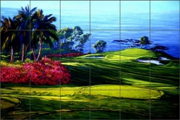 Mauna Lani by Jack White Ceramic Tile Mural - JWA039