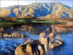 Palm Desert by Jack White Ceramic Tile Mural - JWA041