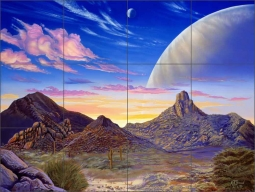 Pinnacle Peak Vista by Kurt Burmann Ceramic Tile Mural - KB004