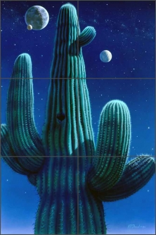 Desert Dreams by Kurt Burmann Ceramic Tile Mural - KB006