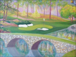 Golf - Augusta, GA by Karen J. Lee Ceramic Accent & Decor Tile KLA016AT