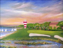 Golf - Hilton Head by Karen J. Lee Ceramic Accent & Decor Tile - KLA017AT