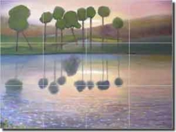 "Lee Golf Kiawah Island Ceramic Tile Mural 24"" x 18"" - KLA018"