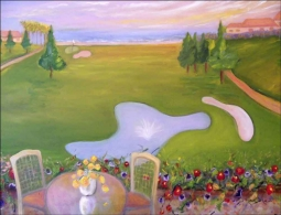 Golf - Monarch Beach, CA by Karen J. Lee Ceramic Accent & Decor Tile - KLA019AT