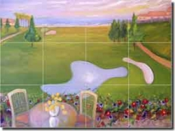 "Lee Golf Monarch Beach Ceramic Tile Mural 24"" x 18"" - KLA019"
