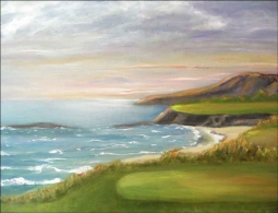 Golf - Pacific Coastal by Karen J. Lee Ceramic Accent & Decor Tile - KLA020AT