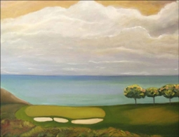 Golf - Torrey Pines, CA by Karen J. Lee Ceramic Accent & Decor Tile - KLA023AT