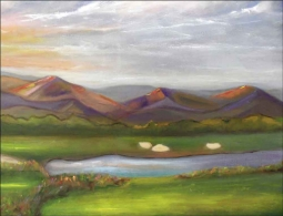 Golf - Mountains, AZ by Karen J. Lee Ceramic Accent & Decor Tile - KLA025AT