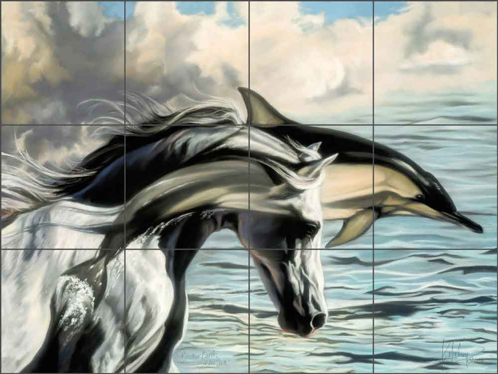 Brother Earth, Sister Sea by Kim McElroy Ceramic Tile Mural - KMA002