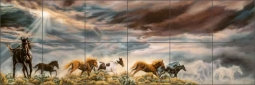 Guardian Spirits by Kim McElroy Ceramic Tile Mural - KMA007