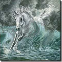 "McElroy Horse Equine Glass Accent Tile 6"" x 6"" - KMA012AT"
