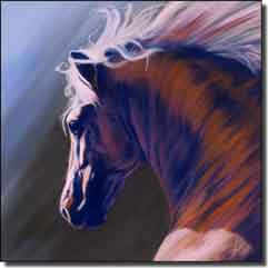 "McElroy Horse Equine Art Ceramic Accent Tile 8"" x 8"" - KMA028AT"