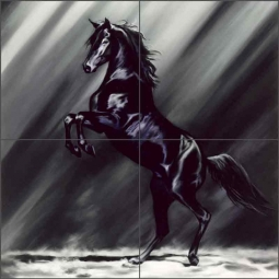Dark Splendor by Kim McElroy Ceramic Tile Mural KMA033